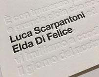 WEDDING IDENTITY // Elda & Luca 2016