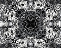Kaleidoscopes Squared Black & White Designs