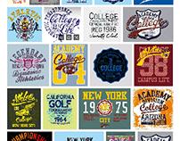college academy graphic design vector art
