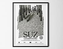 """Cartel para la obra de teatro """"SUZ"""""""