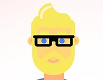Flat Style Self Portrait