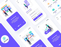 Job Finder Mobile App UI Template