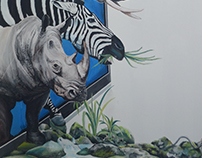 3D Mural Painting Title: Return to Forest