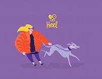 'Heel' Dog Walking App