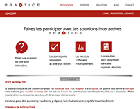 Praktice Website Design : Front Page