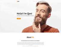 QONI - Personal Resume HTML Template