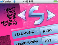 Mobile website for Rock band Starspawn