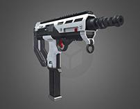 Futuristic SMG Weapon