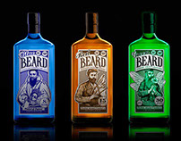 """""""The Beard"""" labels for drinks"""