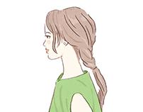 illustrations for Japanese magazine (c)Kotaro Chiba