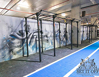 Yes Fitness Gym Interior Wall Murals