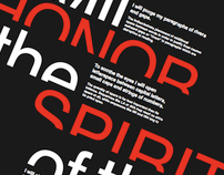 Typographic Oath Poster