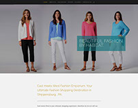 Website for a fashion emporium in Central PA