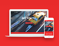 "Website design to promote ""My Tokyo"" travel guide"