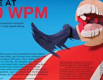 High Speed Debate Magazine Spread