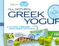"""Rickland Orchards Greek Yogurt Bar"" Website"