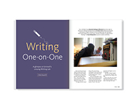 Writing One-on-One – magazine feature design