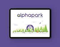 Branding and illustrations for alphapark