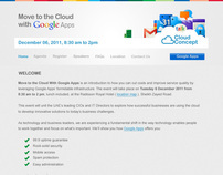 Cloud Concept Google Apps Event Microsite