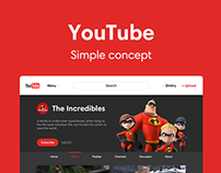 YouTube Simple concept