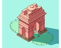 India Gate - Personal Illustration Project
