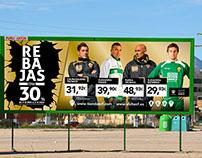 Vallas publicitarias Rebajas Elche C.F.