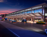 San Antonio Airport Terminal West View