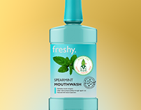 Products And Packaging – Mouthwash Bottle Mockup