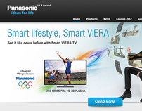 Panasonic.co.uk site redesign concept