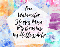 FREE WATERCOLOR SLOPPY MESS PS BRUSHES