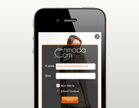 Enmoda iPhone Application - UI & UX Design