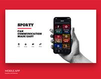Sporty App. UI/UX