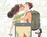 Editorial Illustrations for Nat Geo Traveller July 2017