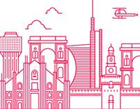 MILAN - Line Illustrations