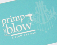 Primp and Blow Branding