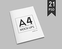 A4 Brochure & Magazine Mock-Ups