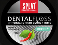 series of blister packs for dental floss