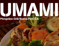 BRANDING, AD & WEB SITE: Umami Mongolian Grill