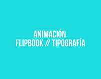 Proyectos de Animación en FlipBook // Tipográfia