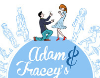 Adam & Tracey's wedding invitation