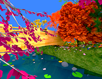 Falling For Fall - 3D Environment Made With Blender