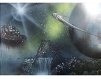 Spray Paint Floating Space City