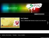 Webdesign in Joomla for SIPOQ, lda.