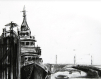 London Charcoal Drawings