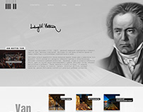 """Landing page 2017 """"Beethoven"""""""