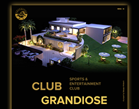Club Grandiose Website Design