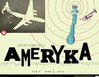 Ameryka Poster for Critical Mass Performance Group