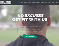 Gym WordPress Theme - Revolution Slider Plugin