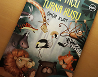 Gri Taçlı Turna Kuşu - Children's Book Illustration