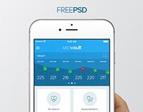 MEDvault Concept App - Free PSD